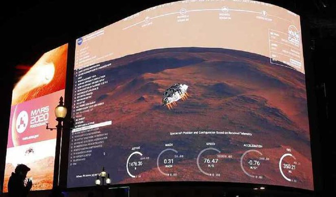 A Rover Touches Down On Mars