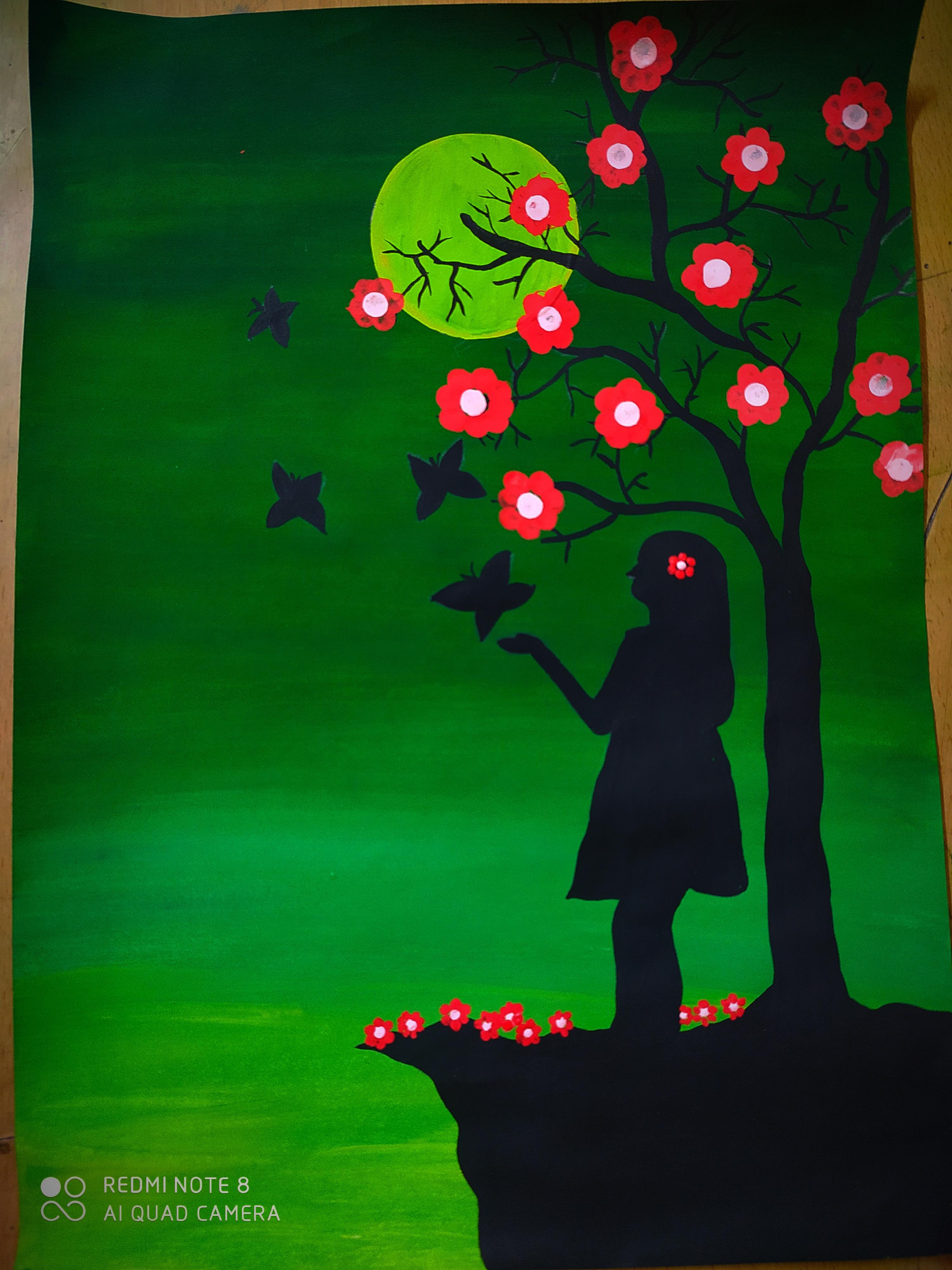 Vedika's Painting 'Sense Of Peace'