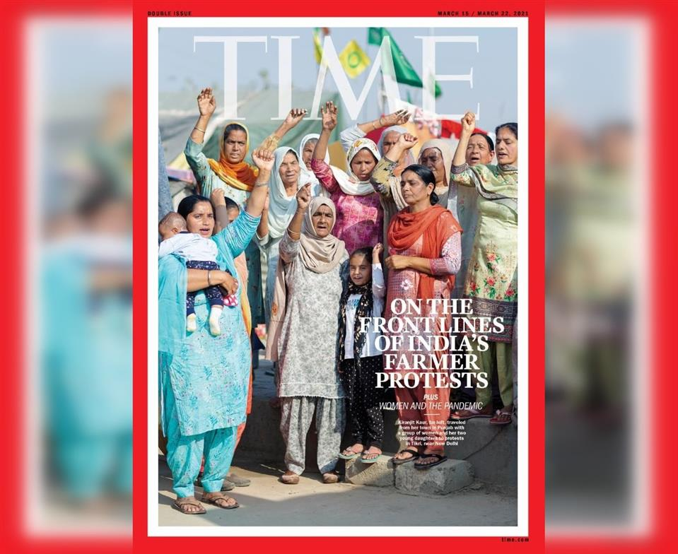 Women Leading Farmers' Stir On TIME Cover