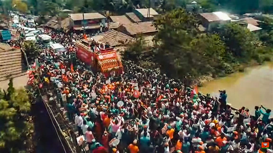 Shah Holds Road Show In Nandigram