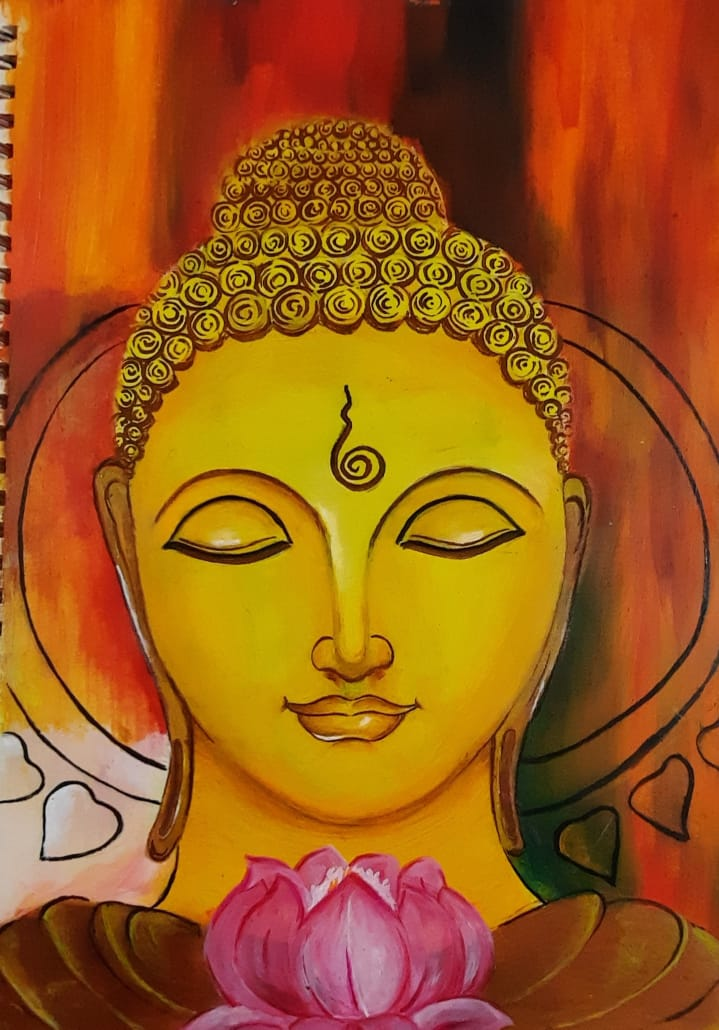 Kamakshi's Paints Buddha
