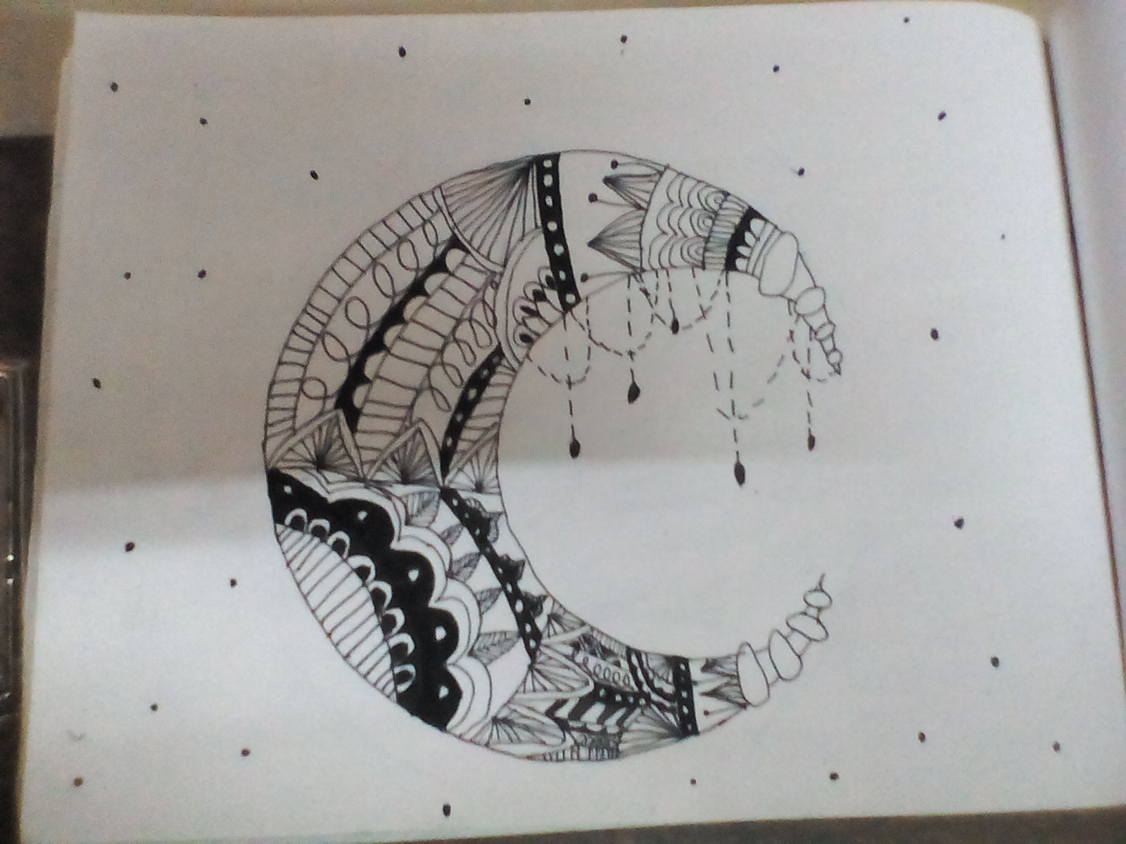 Ananya's Sketch 'The Moon Beauty'
