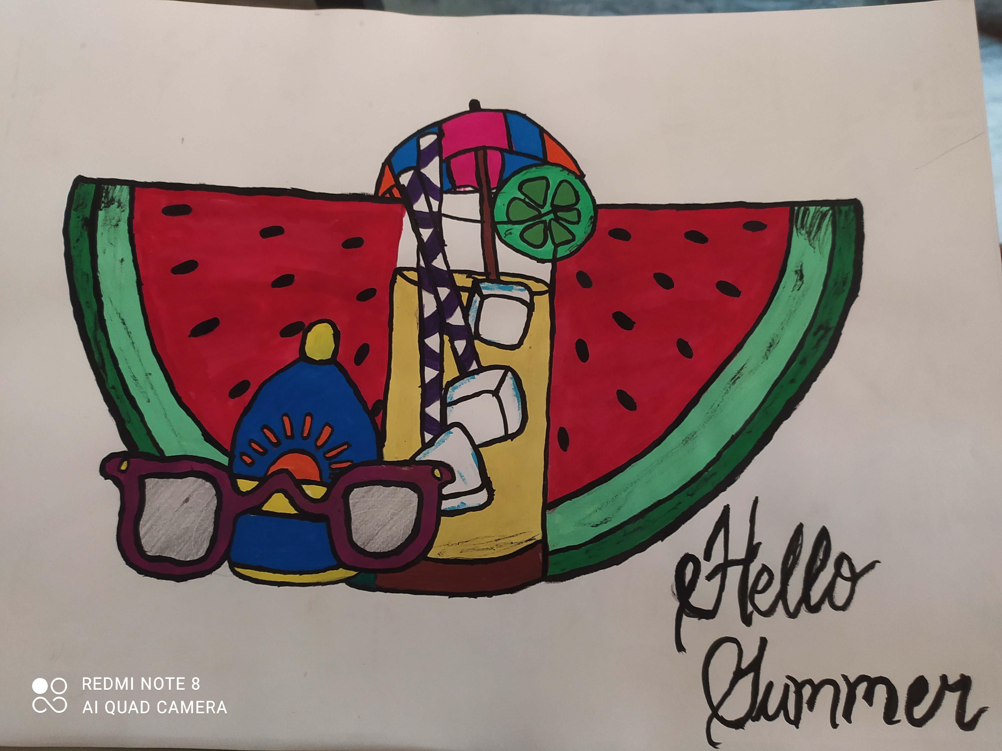 Hansini's Art On Inviting summer