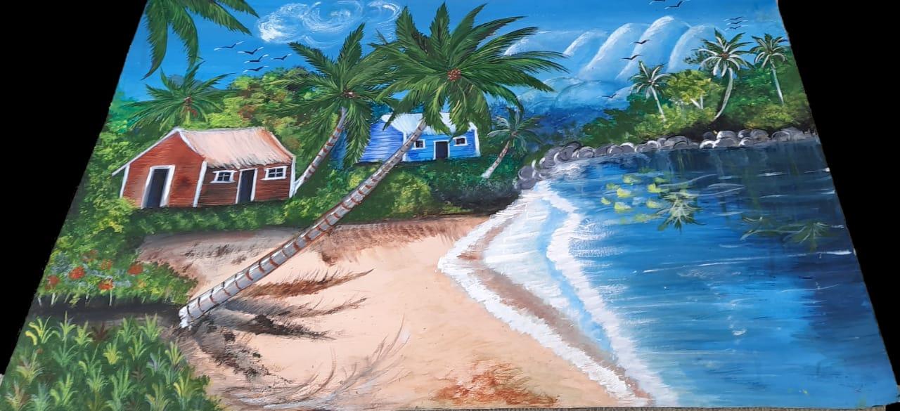 Kamakshi's Painting 'Calmness'