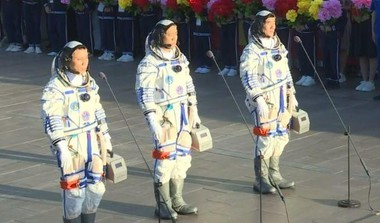 First Astronauts Dock At Chinese Space Station