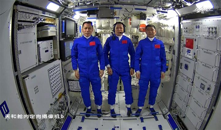 China Launches 1st Astronauts To Space Station