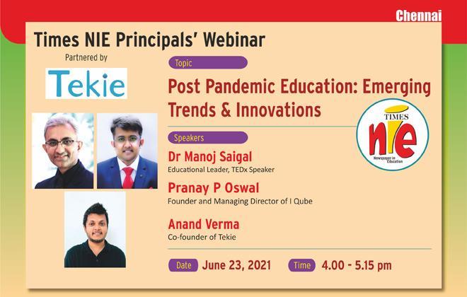 Times NIE Principals' Webinar, Chennai