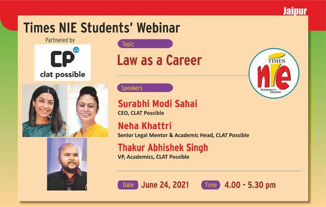 Times NIE Students Webinar, Jaipur