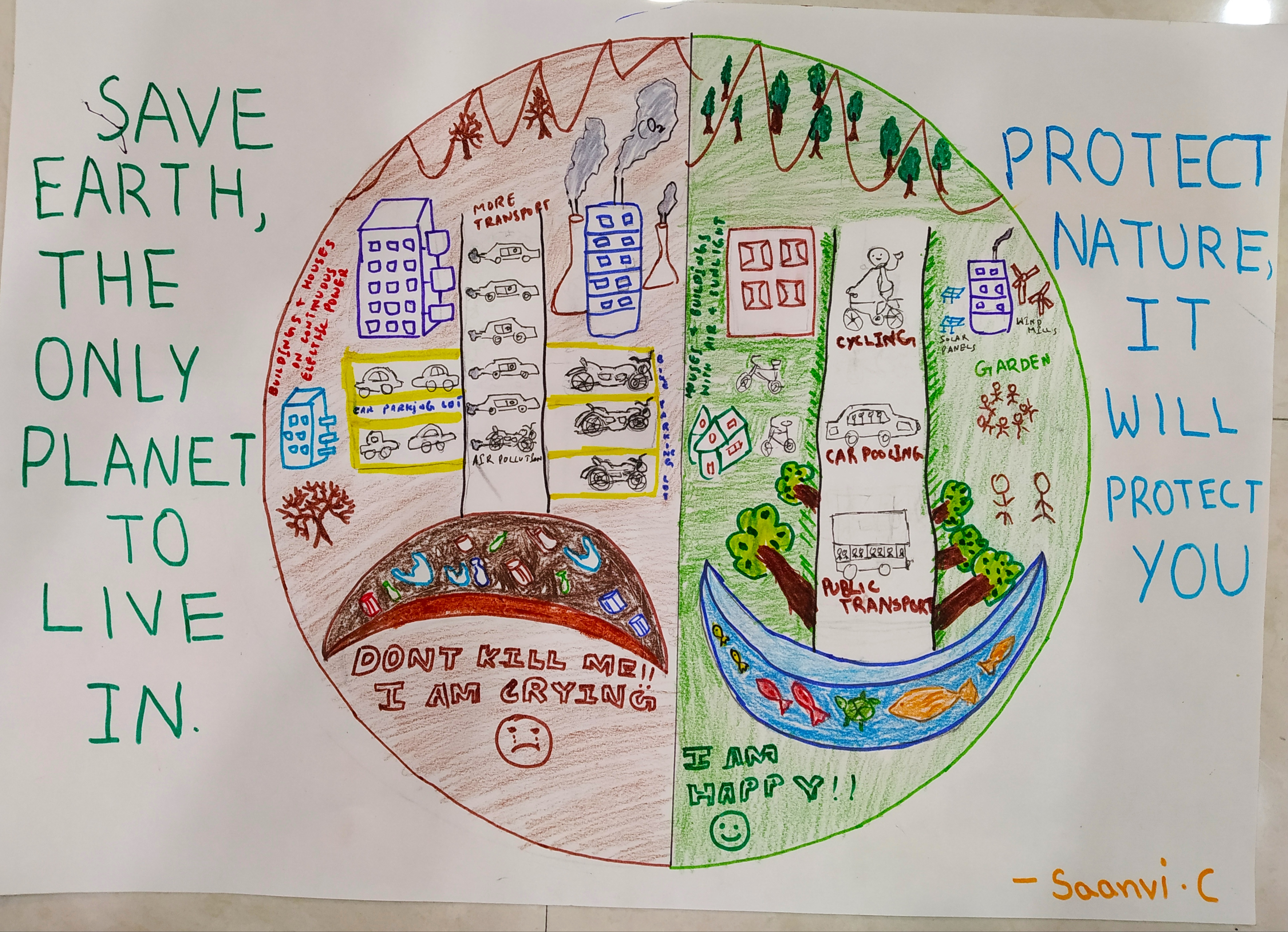 Saanvi's Poster on Global Environment