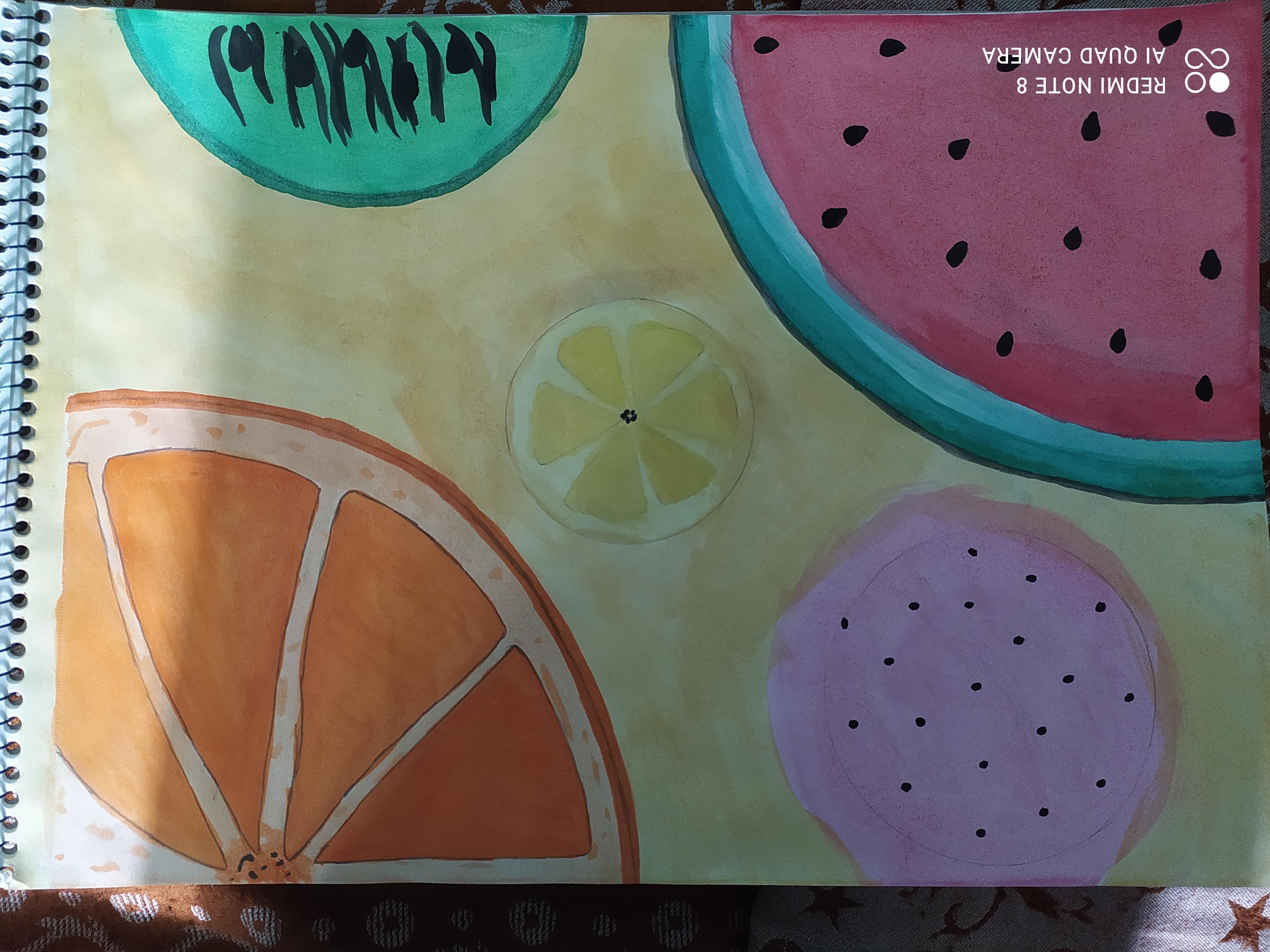 Hansini's Painting 'My Fruits Gallery'
