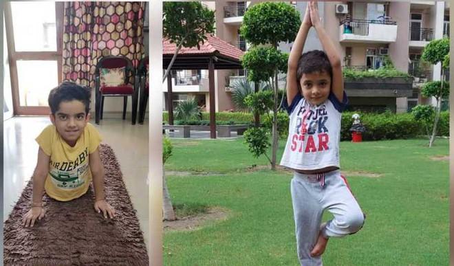 Yoga day at Ryan Noida