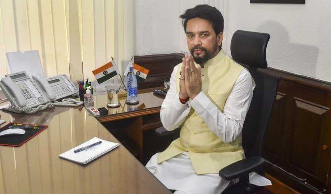 Thakur Takes Charge As Sports Minister