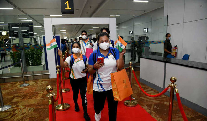 Team India Leaves For Tokyo Olympics