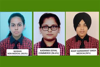 Class XII achievers of AKSIPS 41