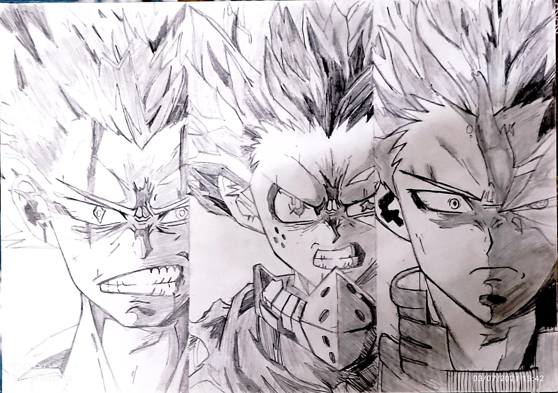 Charitharth's Pencil Art Of Manga Heroes