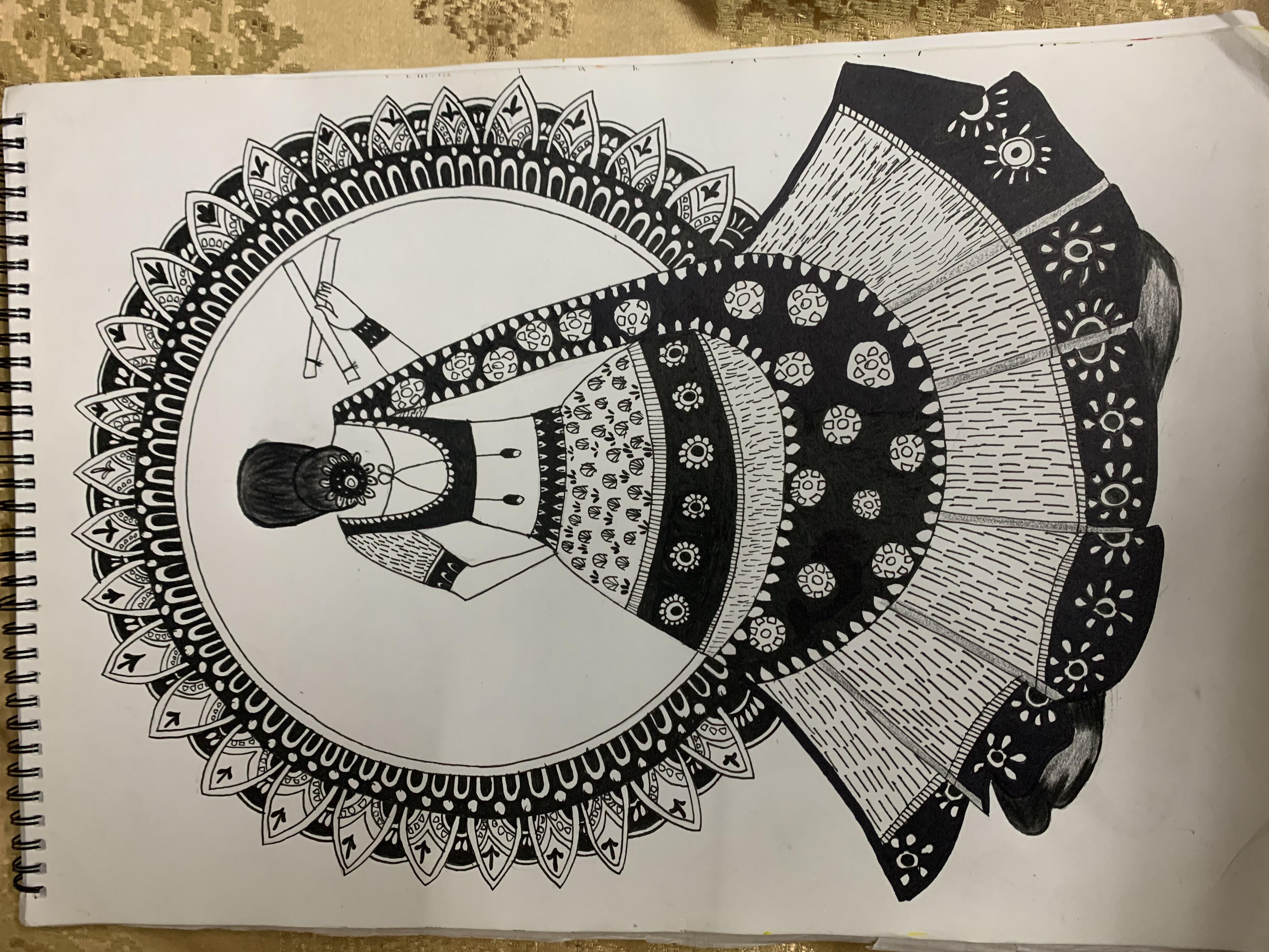 Jasmin's Madhubani Painting