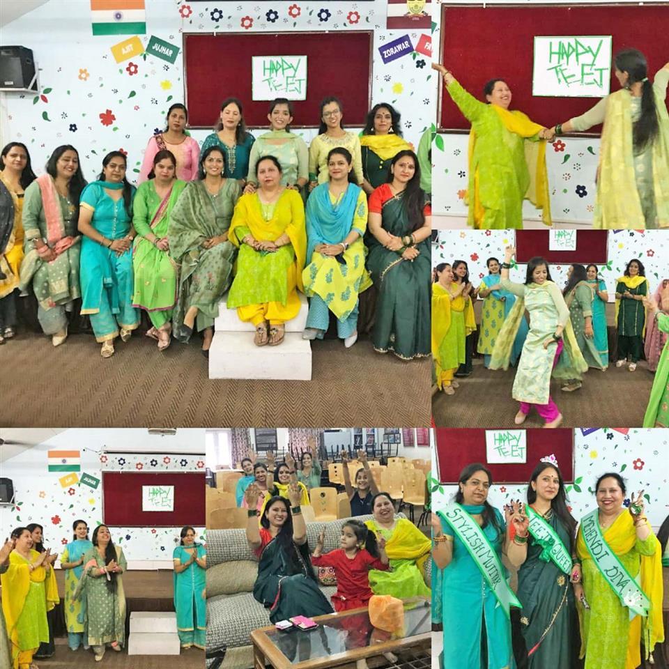 Teachers dress in green for Hariyali Teej celebration