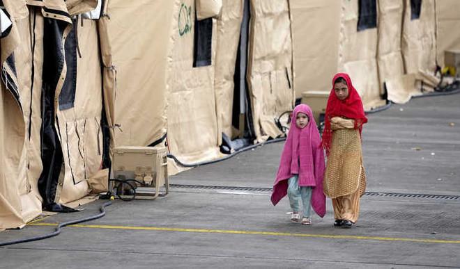 Toys & Bouncy Castle For Stranded Afghan Kids