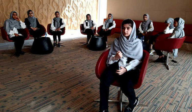 In Qatar, Afghan Girls Robotic Team Gears Up
