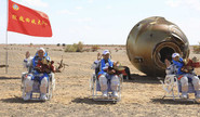 Chinese Astronauts Back Post 90-Day Mission