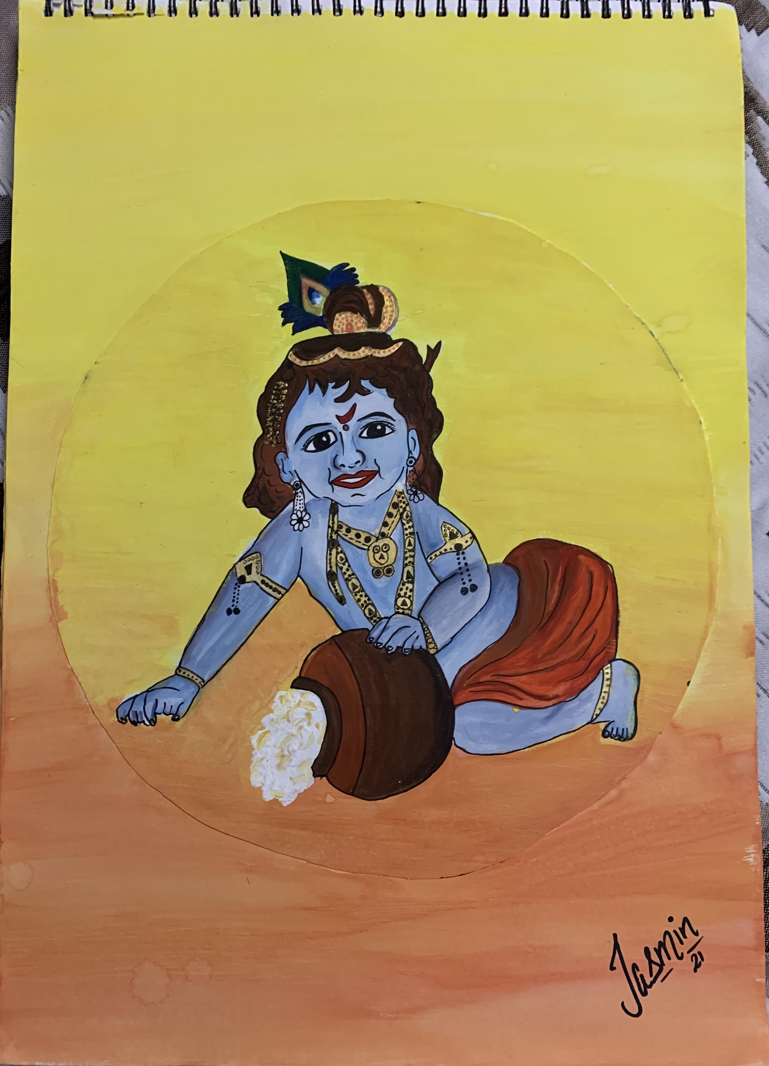 Jasmin's Krishna Painting