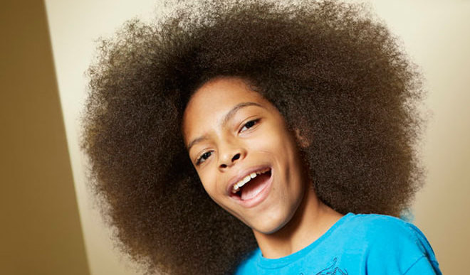 13-Year-Old Boy Sets Afro Record